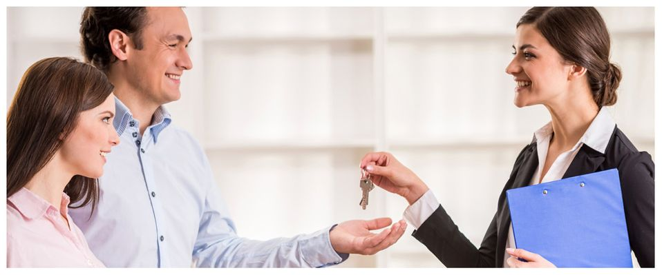 handing keys over to new owner